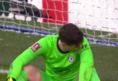 Un nuevo 'blooper' de Kepa: el portero del Chelsea fue cómplice en el descuento del Luton en FA Cup [VIDEO]