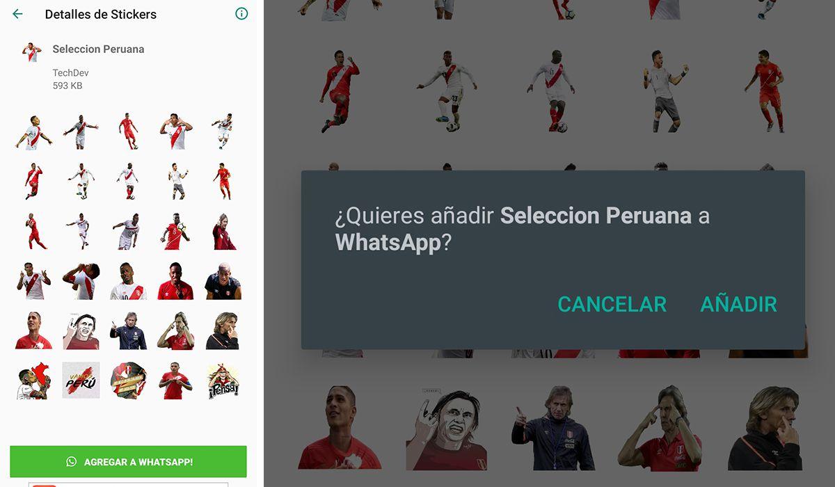 Así se ven los stickers de la selección peruana en tu WhatsApp. (Foto: Mag)
