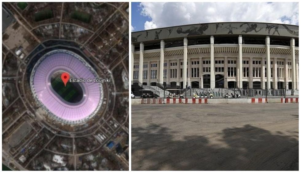 En el estadio Luzhniki se espera la llegada de varios hinchas mexicanos. (Fotos: Google Maps - Getty Images / Diseño: Depor)
