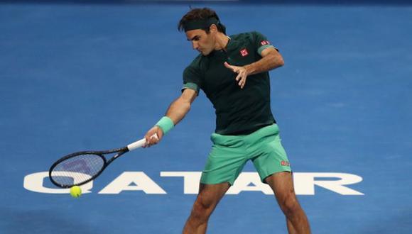 Federer tuvo regreso triunfal tras 13 meses de ausencia en el ATP 250 de Doha. (Difusión)