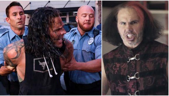 Matt Hardy criticó polémico segmento de WWE en el que su hermano Jeff fue arrestado por la policía. (WWE/AEW)