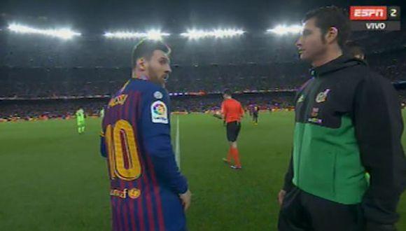 La ensordecedora ovación a Lionel Messi en el Barcelona-Levante. (ESPN 2)