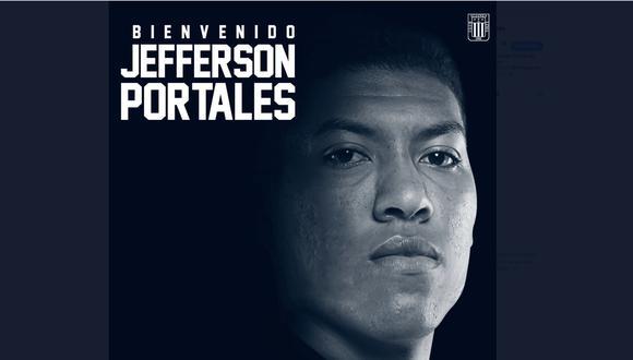 Jefferson Portales es nuevo refuerzo de Alianza Lima. (Foto: Alianza Lima)