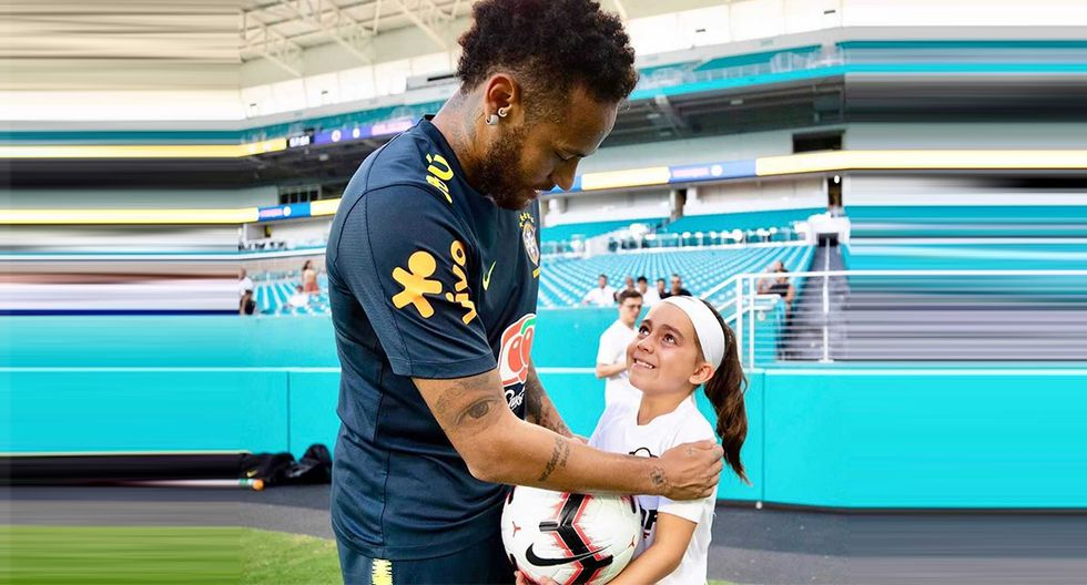 Ariana Dos Santos cumplió su sueño: conoció a Neymar Junior en Estados Unidos (Foto: Instagram Ariana Dos Santos)