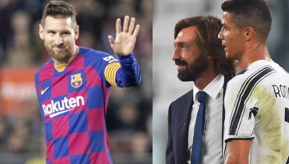 Pirlo elogió a Messi y Cristiano (Foto: Agencias)