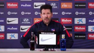 """Simeone: """"El equipo sigue un plan, vaya bien o mal, y ese es el camino"""""""