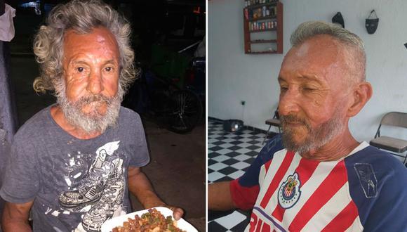 El hecho fue publicado en Facebook y la vida del anciano cambió rotundamente. La historia ha conmovido a todos en México. (Fotos: Elian Cruz y Fabian González/Facebook)