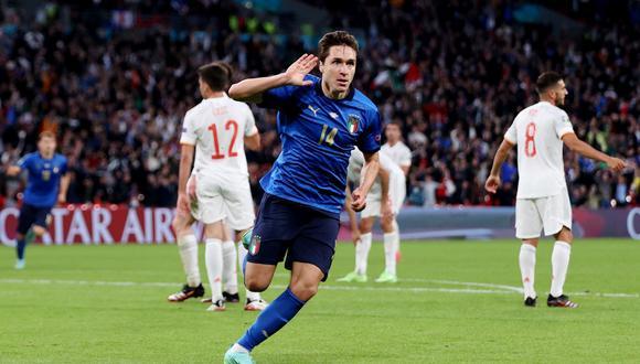 Federico Chiesa fue la fran figura de Italia en la conquista de la Eurocopa. (Foto: Reuters)