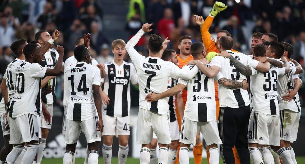 Juventus ganó la Serie A de Italia por octava vez consecutiva. (AP)