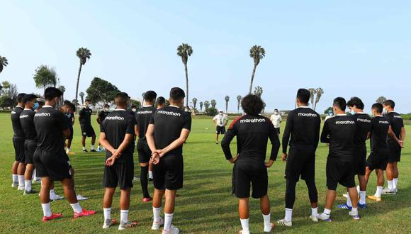 El plantel de Universitario está concentrado en Campo Mar. (Foto: @Universitario)