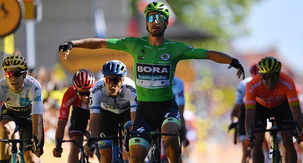 Peter Sagan llegando a la meta en la Etapa 5 del Tour de Francia. (Getty Images)