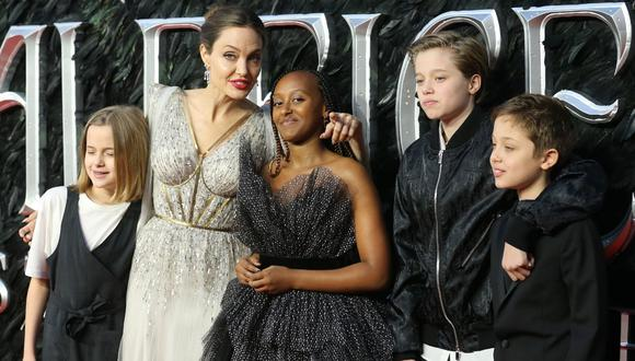 Angelina Jolie no suele dar muchas declaraciones sobre su familia. esta vez demostró el orgullo que siente por su hija Zahara Jolie-Pitt. (AFP).