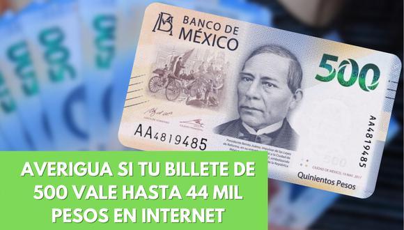 Un video viral muestra cómo un billete de quinientos pesos mexicanos muy especial se ha convertido en el objeto del deseo de los coleccionistas de la numística. | Crédito: Notimex / travesiasdigital.com
