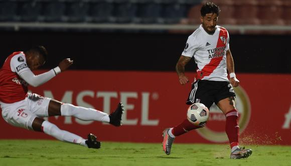 River Plate sacó un punto en su visita a Santa Fe de Colombia. (Foto: River Plate)