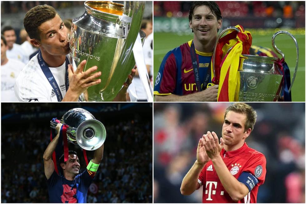 El once ideal de todos los tiempos de la Champions League. (Getty)