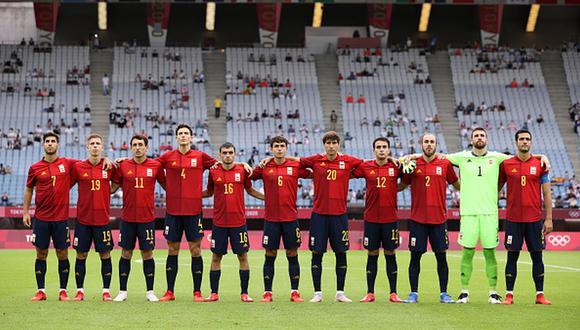 España clasificó a semifinales del fútbol masculino de Tokio 2020 tras superar a Costa de Marfil. (Getty)