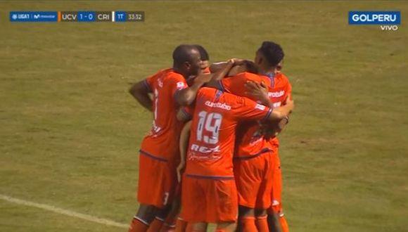 Pacheco marcó golazo de tiro libre en el Sporting Cristal vs. César Vallejo. (Captura)