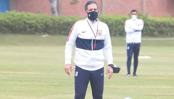 Mario Salas se refirió a la seguidilla de partidos que le toca enfrentar a Alianza Lima | Foto: Prensa club Alianza lima