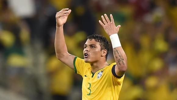 Thiago Silva vuelve a la capitanía de Brasil, para el duelo ante Perú. (Foto: Agencias)