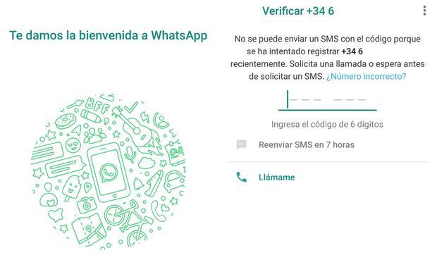 Para poder colocar tu número fijo y recibir el código de verificación de WhatsApp usa estos sencillos pasos. (Foto: WhatsApp)