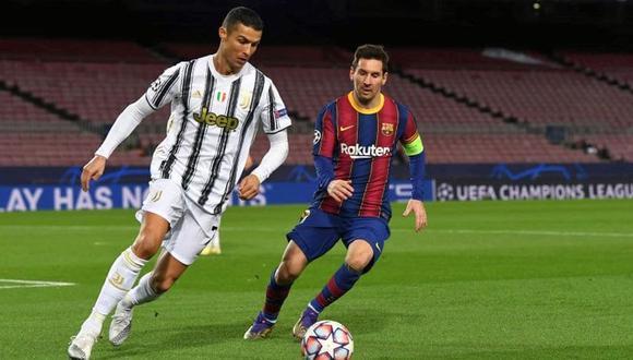 Cristiano Ronaldo y Lionel Messi se enfrentaron en la pasada Champions por última vez. (Foto: Agencias)