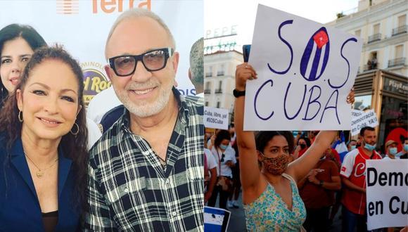 La pareja de esposos Gloria y Emilio Estefan expresaron su solidaridad ante las manifestaciones en Cuba. (Foto: @gloriaestefan/EFE).