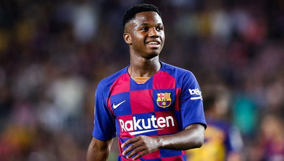 Ansu Fati debutó oficialmente con el FC Barcelona en un choque ante el Betis en Camp Nou. (Getty)