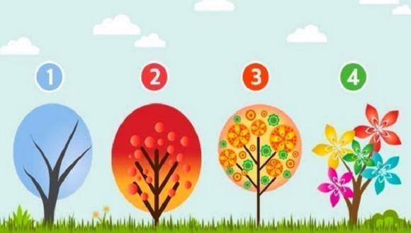 Elige uno de los árboles del test viral y conoce qué emoción es la que domina tu personalidad. (iProfesional)