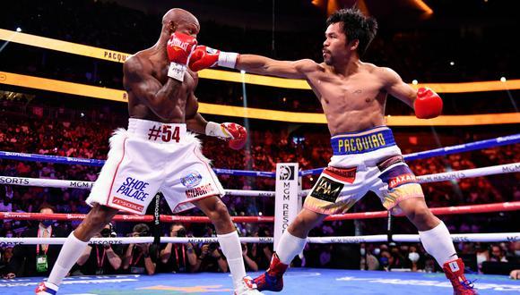 Manny Pacquiao cayó ante Yordenis Ugas en su vuelta al boxeo . (AFP)
