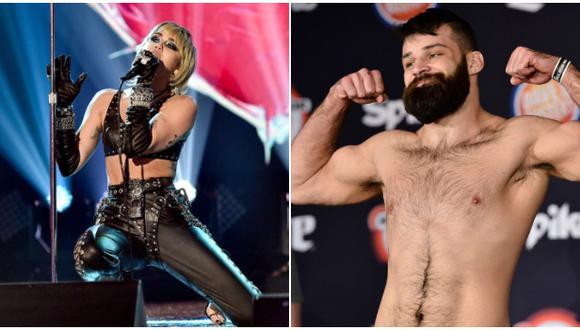 La insólita condición que le puso Miley Cyrus a peleador de UFC que la invitó a salir. (Difusión)