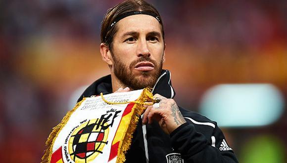 Sergio Ramos es el jugador con más partidos con España, 180. (Foto: AFP)