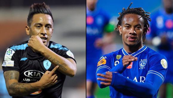 Christian Cueva y André Carrillo se midieron por la liga árabe y comentarista habló de su pasado en Alianza Lima. (Foto: Twitter)