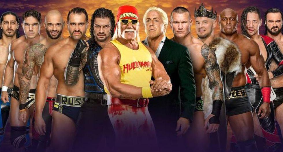 Team Hulk Hogan (Roman Reigns, Rusev, Ricochet, Ali y Shorty G) vs. Team Ric Flair (Randy Orton, King Corbin, Bobby Lashley, Shinsuke Nakamura y Drew McIntyre. (Foto: WWE)