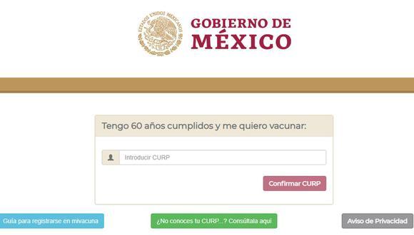 Vacuna contra el COVID-19, México: guía para registrarse en mivacuna.salud.gob.mx si eres adulto mayor (Foto: mivacuna.mx).