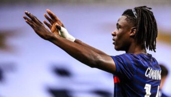 Eduardo Camavinga no tuvo minutos en el partido entre Francia y Portugal en Liga de Naciones. (AFP)