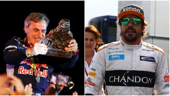 Carlos Sainz fue campeón del Rally Dakar en 2010 y 2018, mientras que Fernando Alonso ha ganado la Fórmula Uno en 2005 y 2006. (Getty Images)