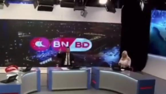La transmisión en vivo de un noticiero argentino durante el terremoto dio la vuelta al mundo. (Foto: @josebiancook / Instagram)