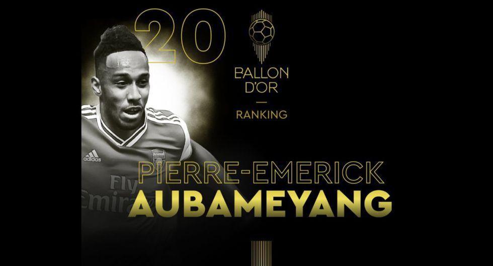 Pierre Emerick Aubameyang   Arsenal. (Foto: @francefootball)