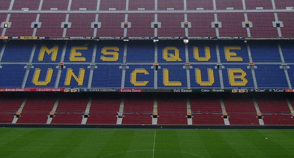 Barcelona cambió su conocida frase en el Estadio Camp Nou. (Foto: Difusión)