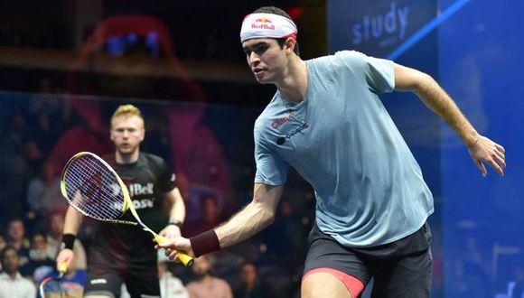 Diego Elías en su duelo contra el galés Joel Makin. (Foto: US Open Rowe)