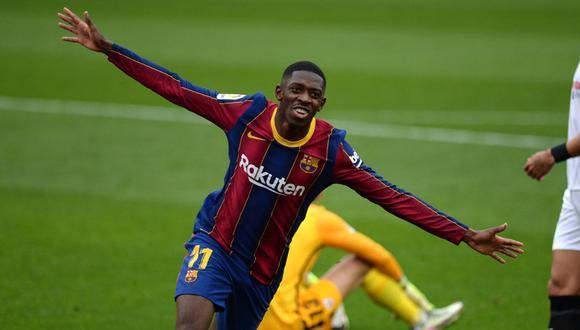 Ousmane Dembélé tiene contrato con el Barcelona hasta mediados de 2022. (AFP)