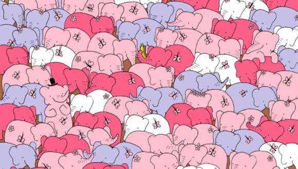 El corazón está bien escondido entre los elefantes que aparecen en la imagen. (Foto: @thedudolf / Facebook)