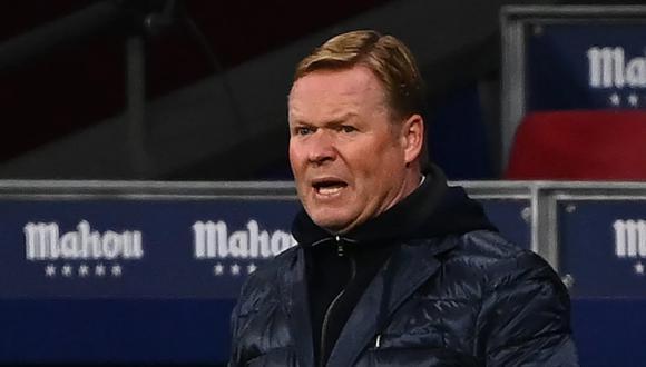 Ronald Koeman habló tras el partido en el Wanda Metropolitano. (Foto: AFP)