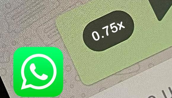 Conoce el truco para activar la velocidad 0.75x en tus  audios de WhatsApp. (Foto: Depor)