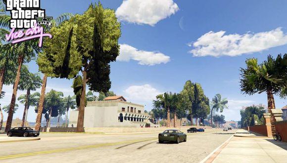 GTA V: así podrás recorrer todo Vice City en el videojuego.