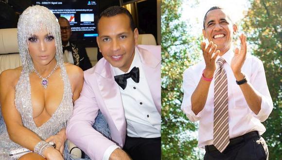 Jennifer López y Álex Rodríguez recibieron un regalo especial de Barack Obama. (Foto: @arod/@barackobama)