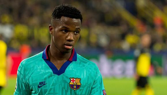 Ansu Fati debutó con Barcelona con tan solo 16 años. (Getty)