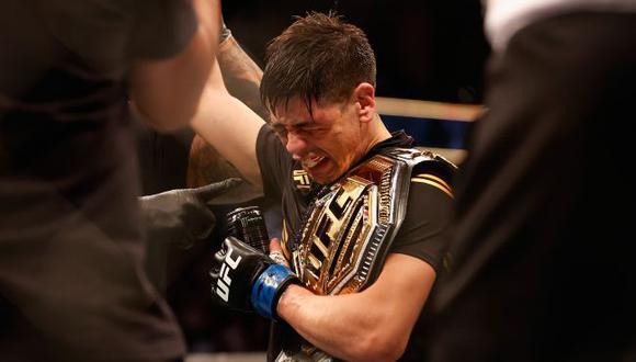 """Brandon Moreno tras ganar el título de UFC: """"Se escucha sencillo, pero fueron 10 años para llegar a esto"""". (UFC)"""