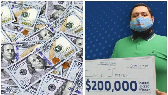Ismael Jiménez ganó 200 mil dólares en la lotería y ahora dice que se lo dará a sus padres. (Foto: NC Education Lottery | Pexels)