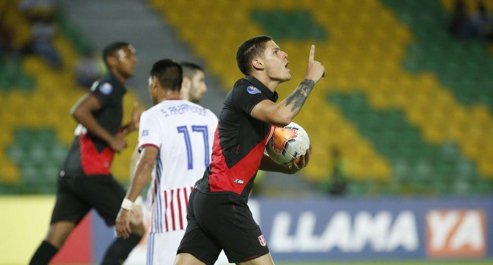 Sebastián Gonzales Zela marcó su primer gol con Perú en el Preolímpico. (Foto: Violeta Ayasta)